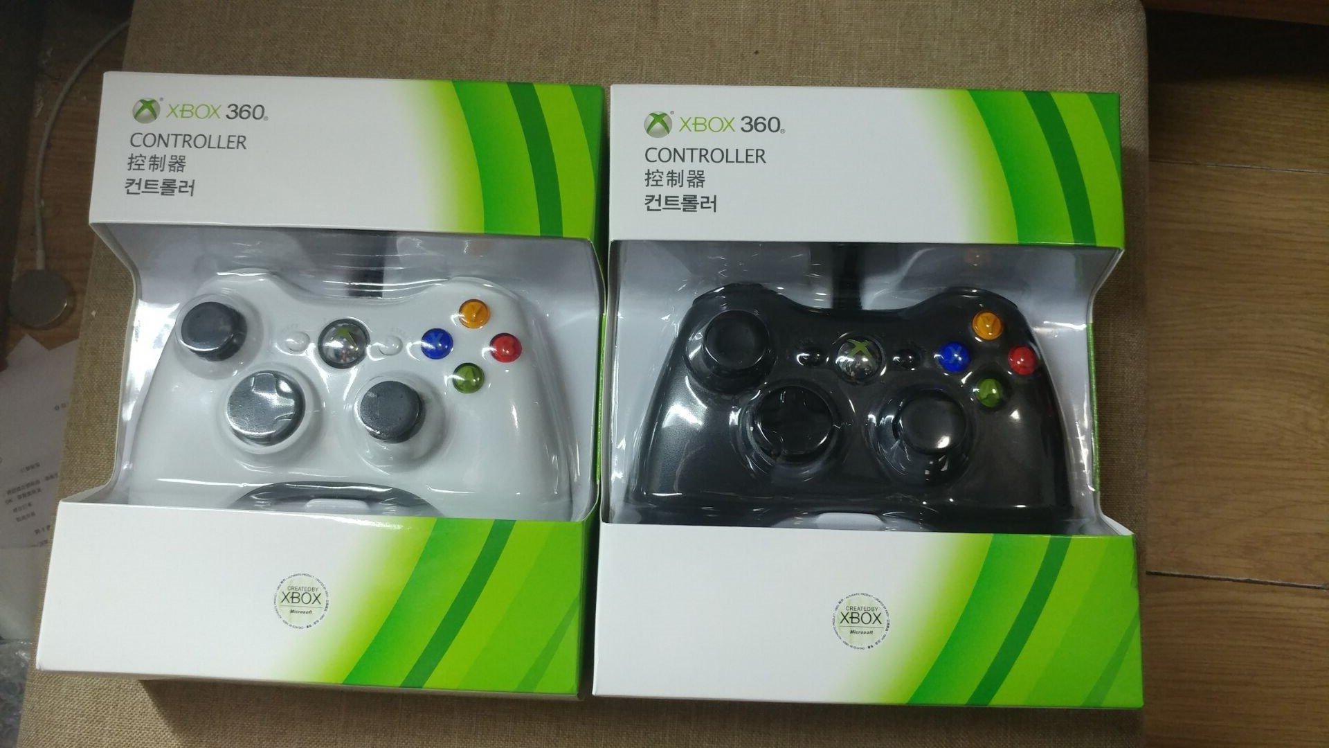 (現貨)全新品綠盒包裝X360手把有線 把手XBOX360控制器PC可用 遊戲 搖杆 遊戲手柄 原廠芯片