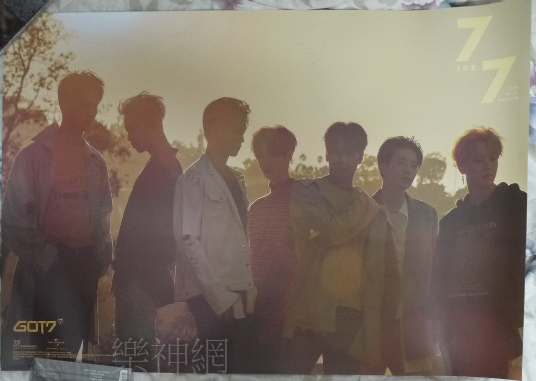 GOT7 7 For 7 2017 【台版 雙面海報】 !免競標~