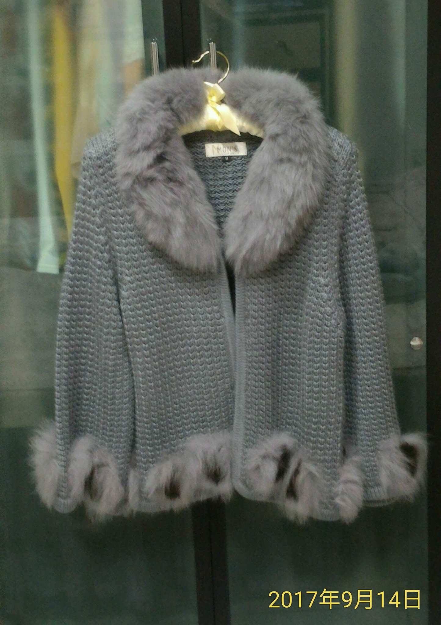 MONS寵愛針織狐狸毛外套
