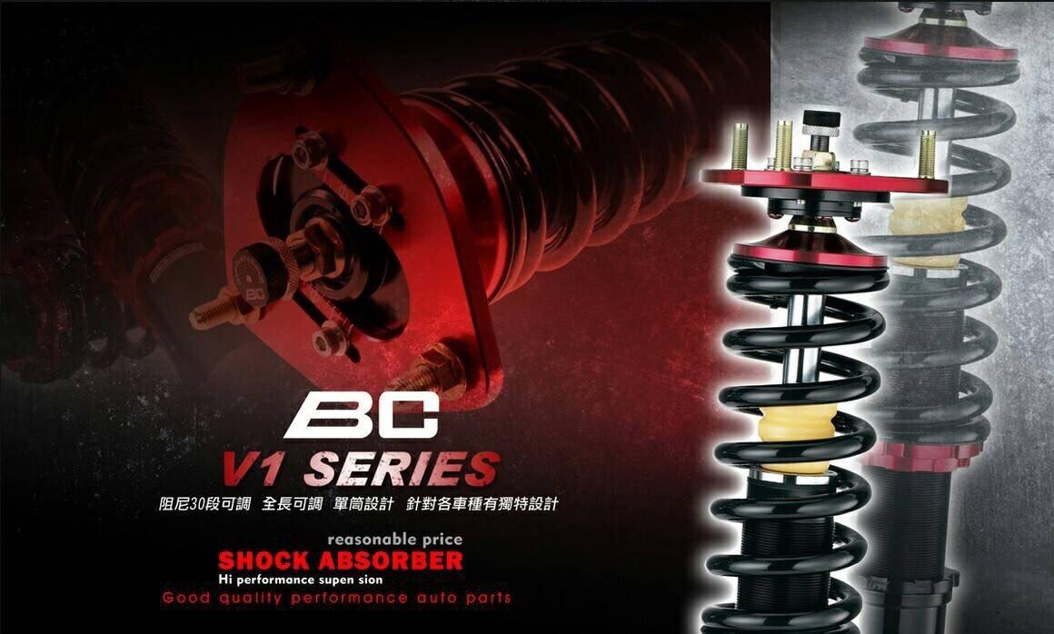 小傑車燈精品--全新 高規格 BC 避震器 V1 30段阻尼高低軟硬可調 BMW E36 E46 E39