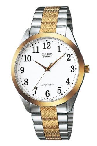 【天龜 】CASIO  時尚金銀富豪壓花腕錶  MTP-1274SG-7B