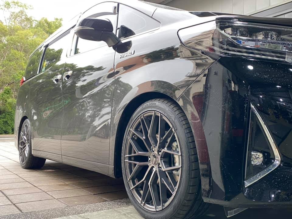 黃帝的店~TOYOTA ALPHARD 安裝20吋台製旋壓輕量化鋁圈 MAXX品牌~KW V3 CUSCO UR拉桿直上