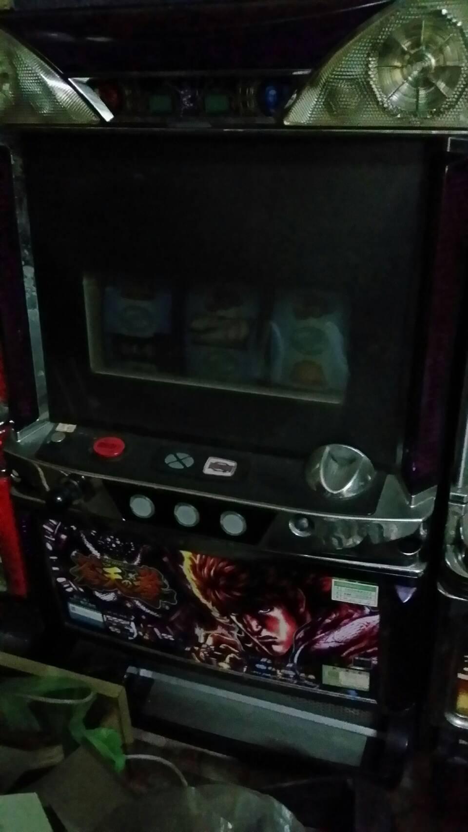 日本原裝機台SLOT 斯洛北斗神拳-蒼天之拳一代-五號機大型家用電玩遊戲機插電即玩拉霸機)非小鋼珠PUB酒店個人遊戲空間