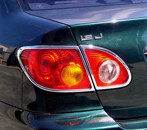 圓夢工廠 Toyota Altis 9代 2001~2007 改裝 鍍鉻銀 車燈框飾貼 後燈框 尾燈框