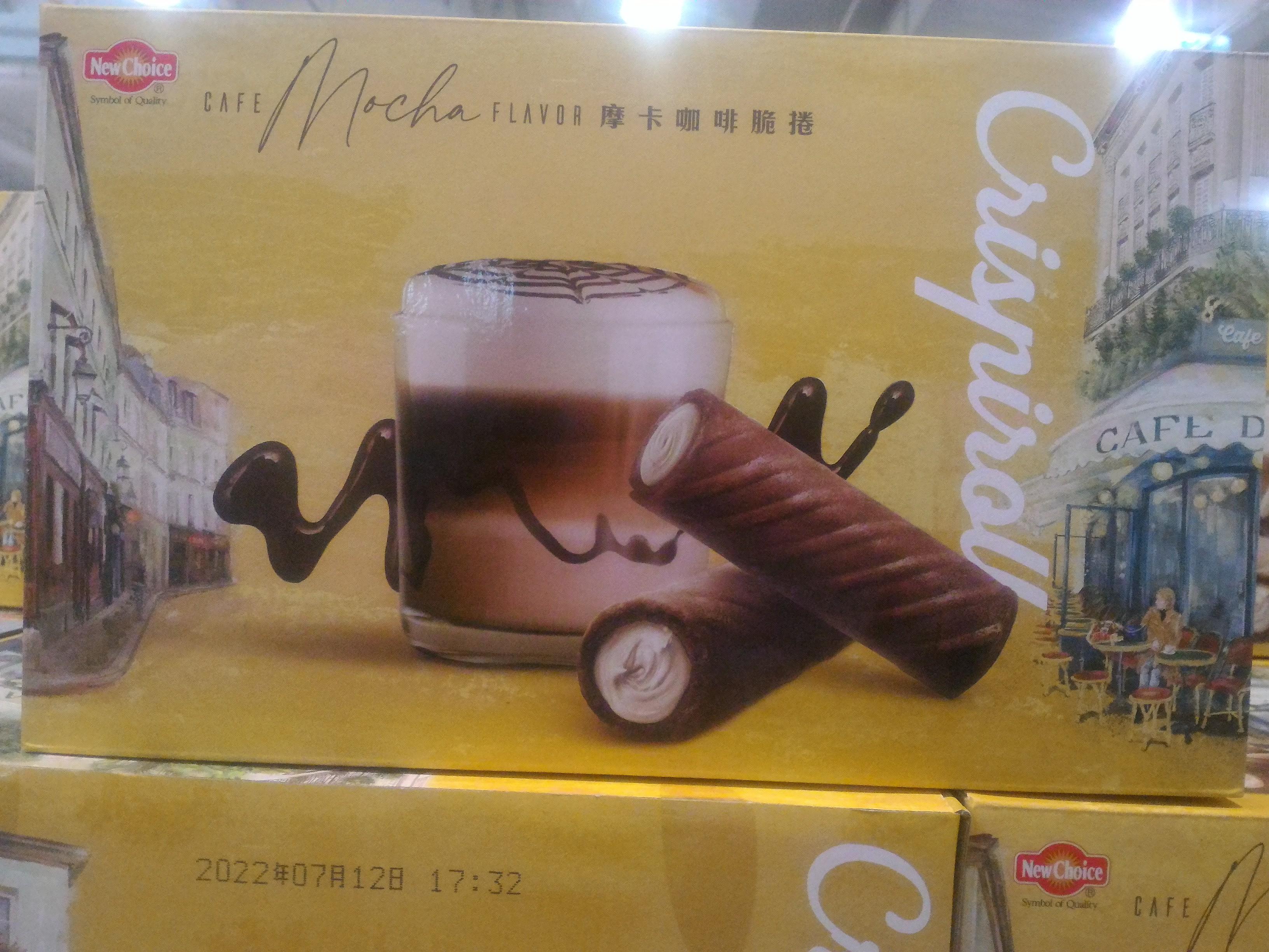 NEW CHOICE 盛香珍 摩卡咖啡脆捲(3包入,1KG) COSTCO好市多代購