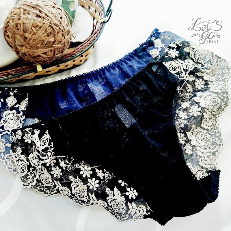 * 低腰內褲 *❉︵ 法式浪漫玫瑰刺繡低腰網紗內褲 ︵❉2色。Lets Go lulus。AC83