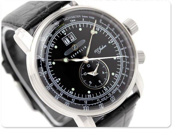 ZEPPELIN 齊柏林飛船 手錶 100週年 42mm 德國 飛行錶 航空錶 7640-2