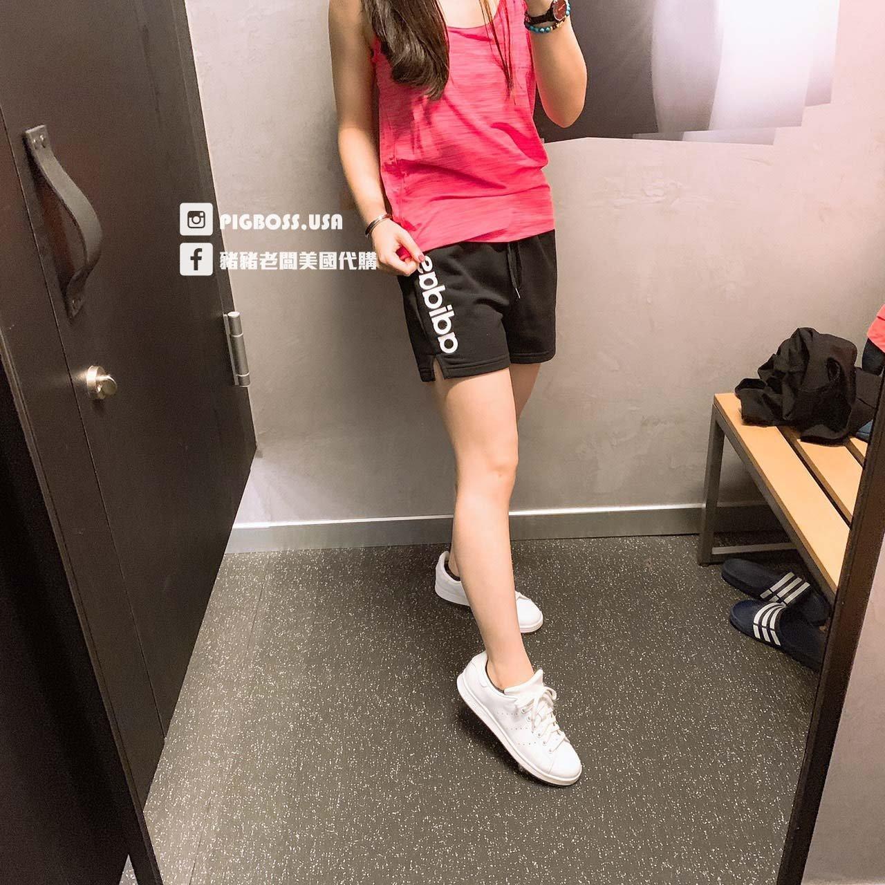 【豬豬老闆】Adidas Essentials Linear Logo 黑  休閒 無內裡 短褲 女款 DP2393