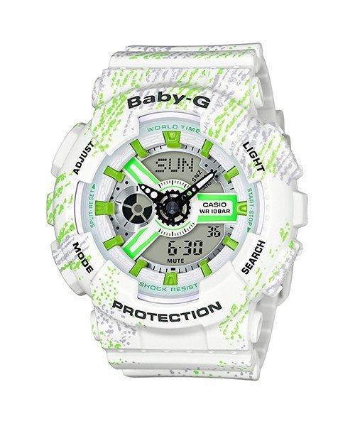 【元電】【CASIO BABY-G】BA-110TX-7A 霧狀蠟筆紋路,動感又時尚,仿蠟筆的筆觸增添了錶款的童趣感