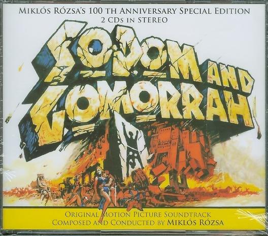 天火焚城錄-2CD完整版(Sodom and Gomorrah)- Miklos Rozsa(67),全新義大利版