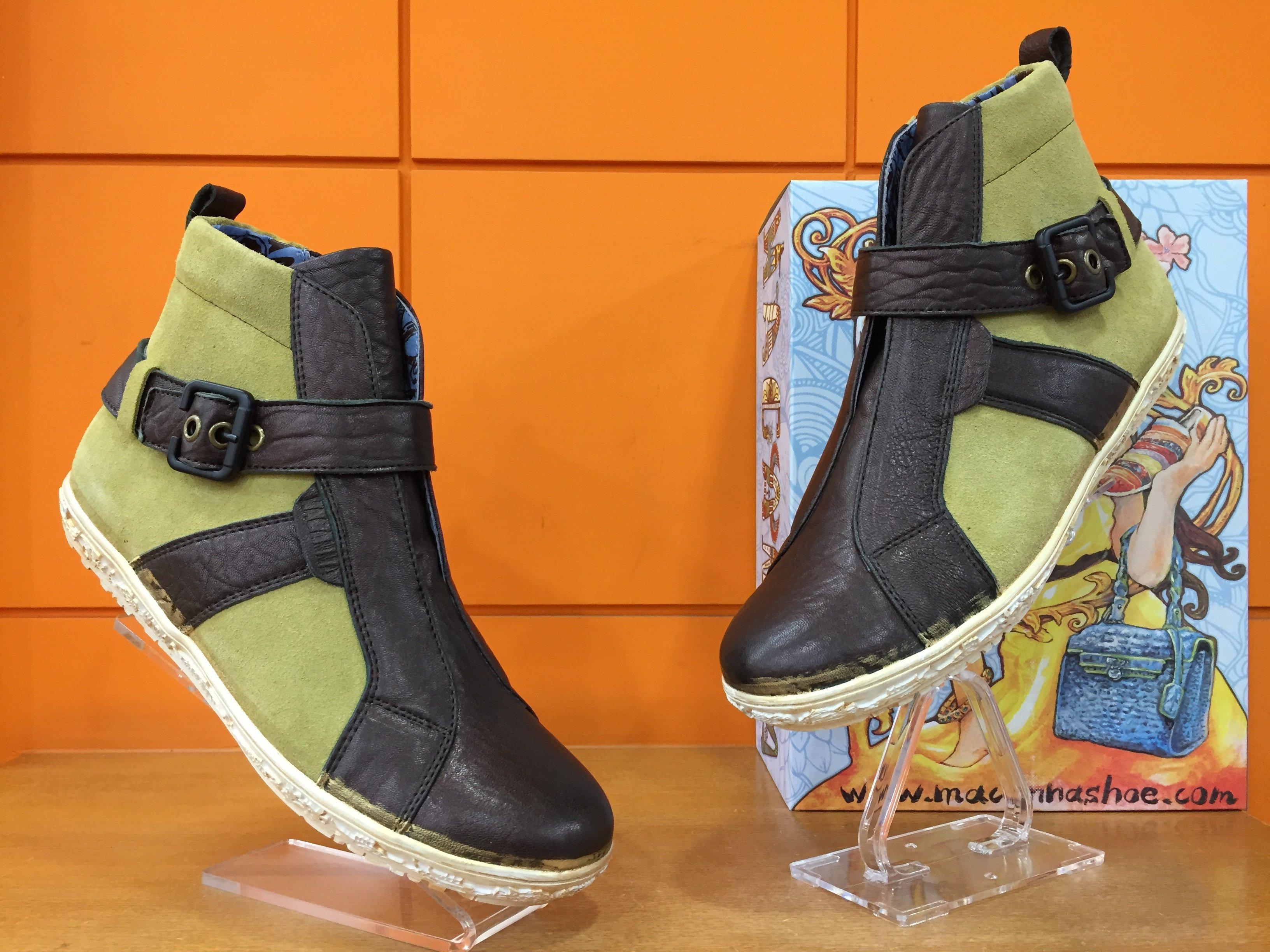 【阿典鞋店】**男鞋**Macanna**麥坎納專櫃~美迪亞系列~全新黃牛皮+羊皮休閒鞋203180
