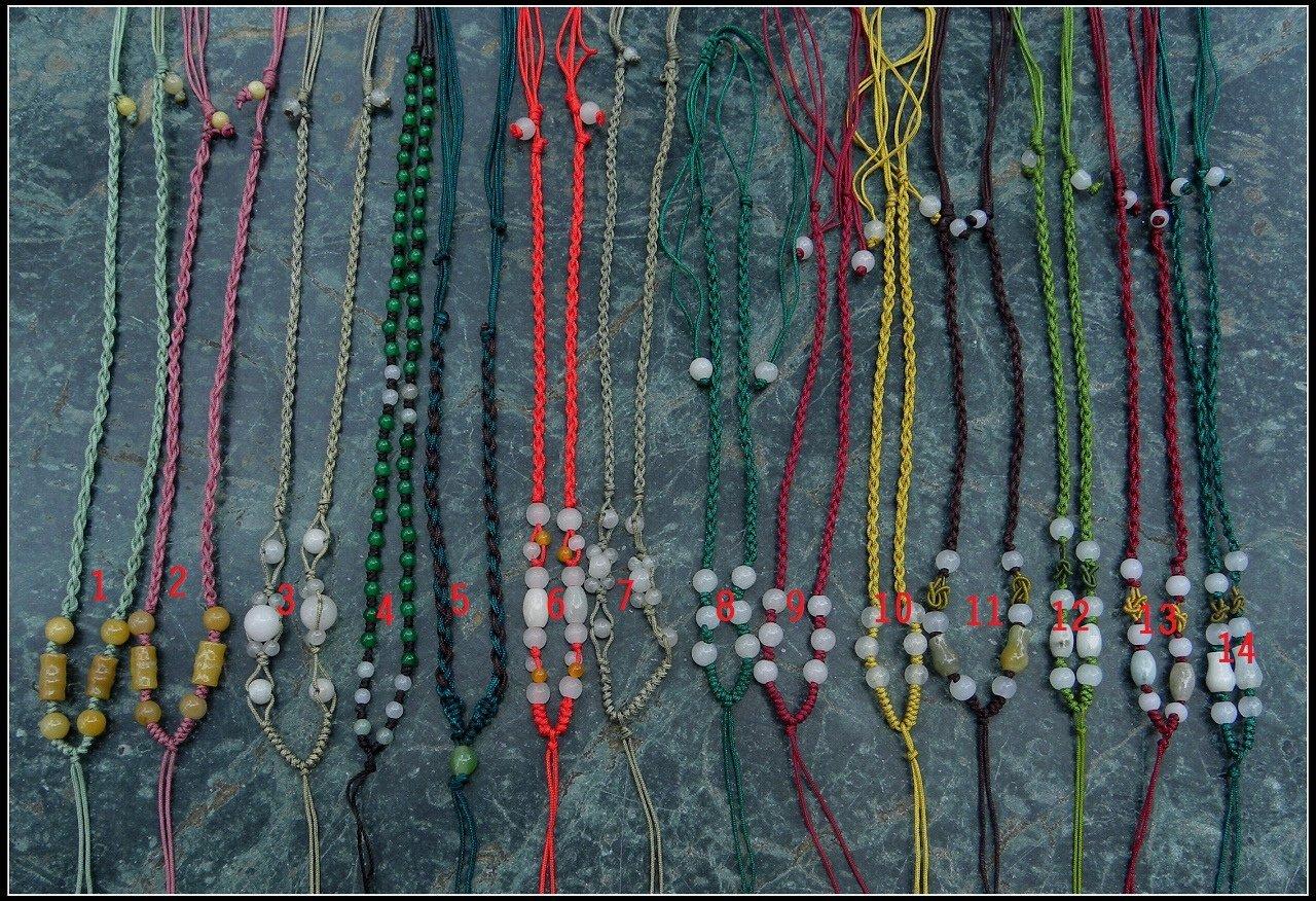 ~紫雲軒水晶~    花樣珠款【DIY中國結項鍊繩6條100元】 款式顏色請看內圖