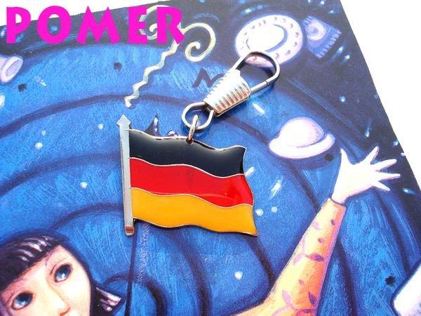 ☆POMER☆ 德國國旗 Germany 德意志聯邦共和國 金屬拉鍊吊飾