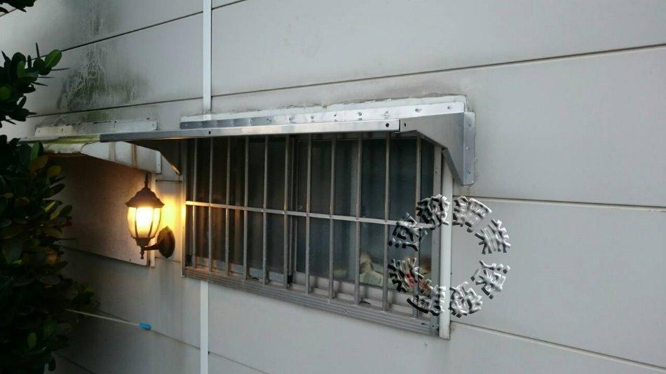 速發~新型第五代加強型不鏽鋼遮雨板40*100cm~(正白鐵304#)DIY晴雨棚 /窗戶 遮雨棚 冷氣鐵皮屋 窗型雨遮