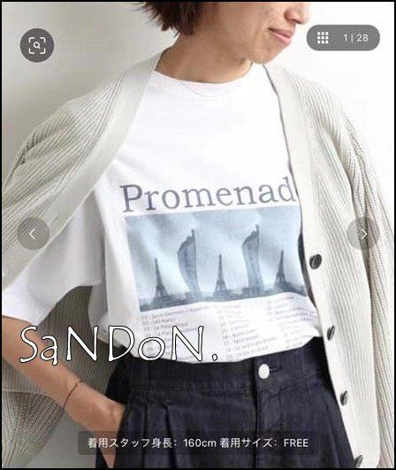 山東:SLOBE LENA 夏季新品 日本製PROMENADE 數位印花基礎TEE 210403