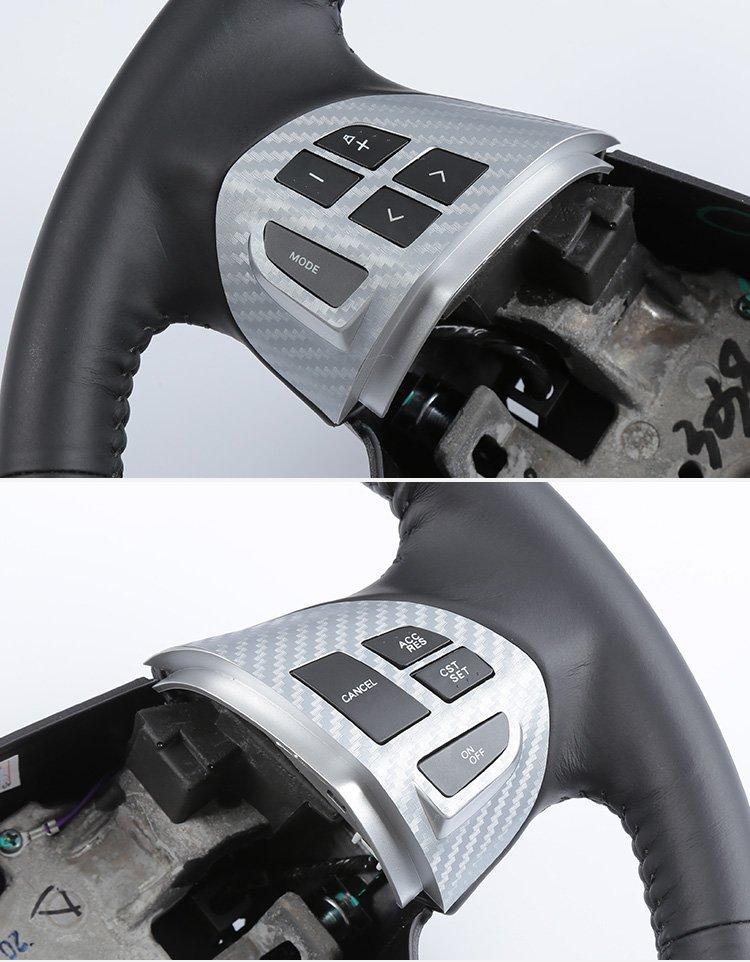 三菱 LANCER FORTIS OUTLANDER 碳纖維塑料防刮貼紙 方向盤音控定速貼紙