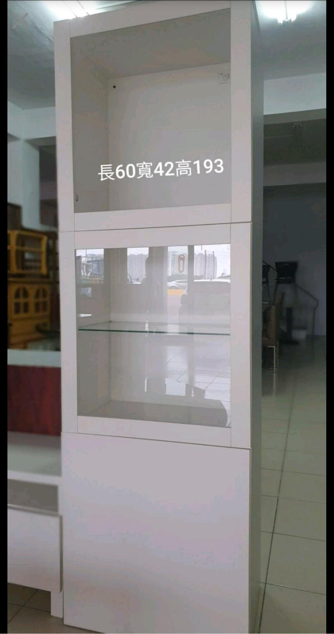 新竹二手家具買賣來來-白色-玻璃酒櫃書櫃展示櫃(分店)~新竹搬家公司|竹北-新豐竹南頭份-2手-家電買賣中古實木-傢俱沙發-茶几-衣櫥-床架床墊冰箱-洗衣機