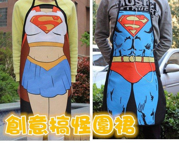 【超級英雄 圍裙】搞怪變裝派對 廚房圍裙浩克 蝙蝠俠 美國隊長 閃電俠 鋼鐡人 蜘蛛人  聖誕節