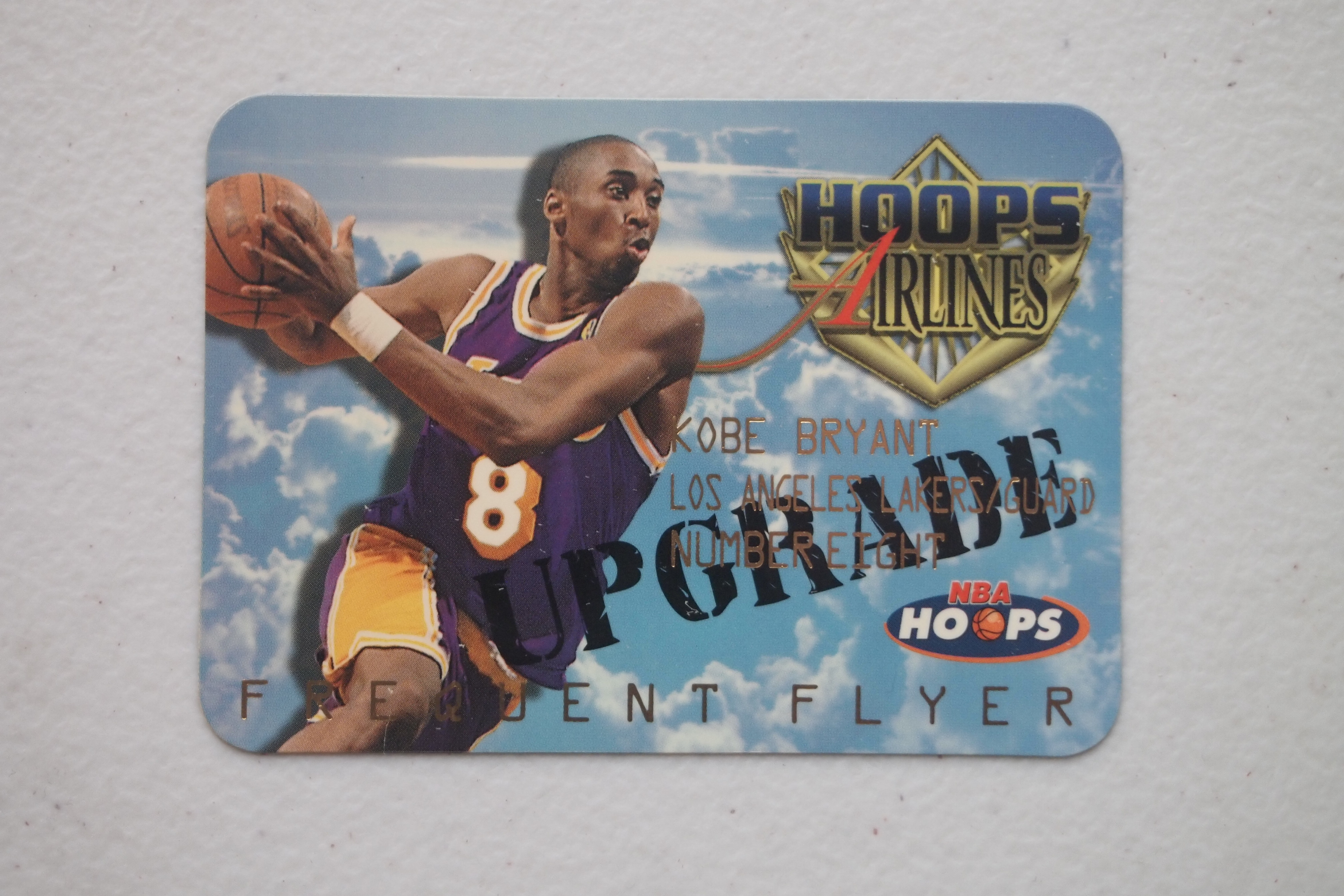 1997-98 Hoops Frequent Flyer Club Upgrade #FF9 Kobe Bryant