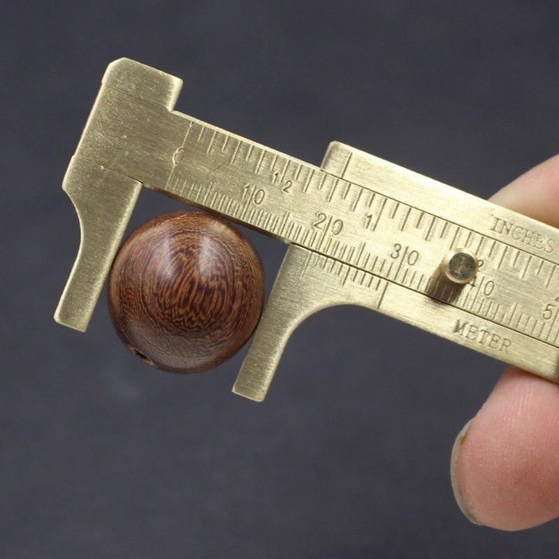 綸綸 用品 (速出貨)迷你双刻度卡尺 游標卡尺全銅卡尺 文玩卡尺小卡尺