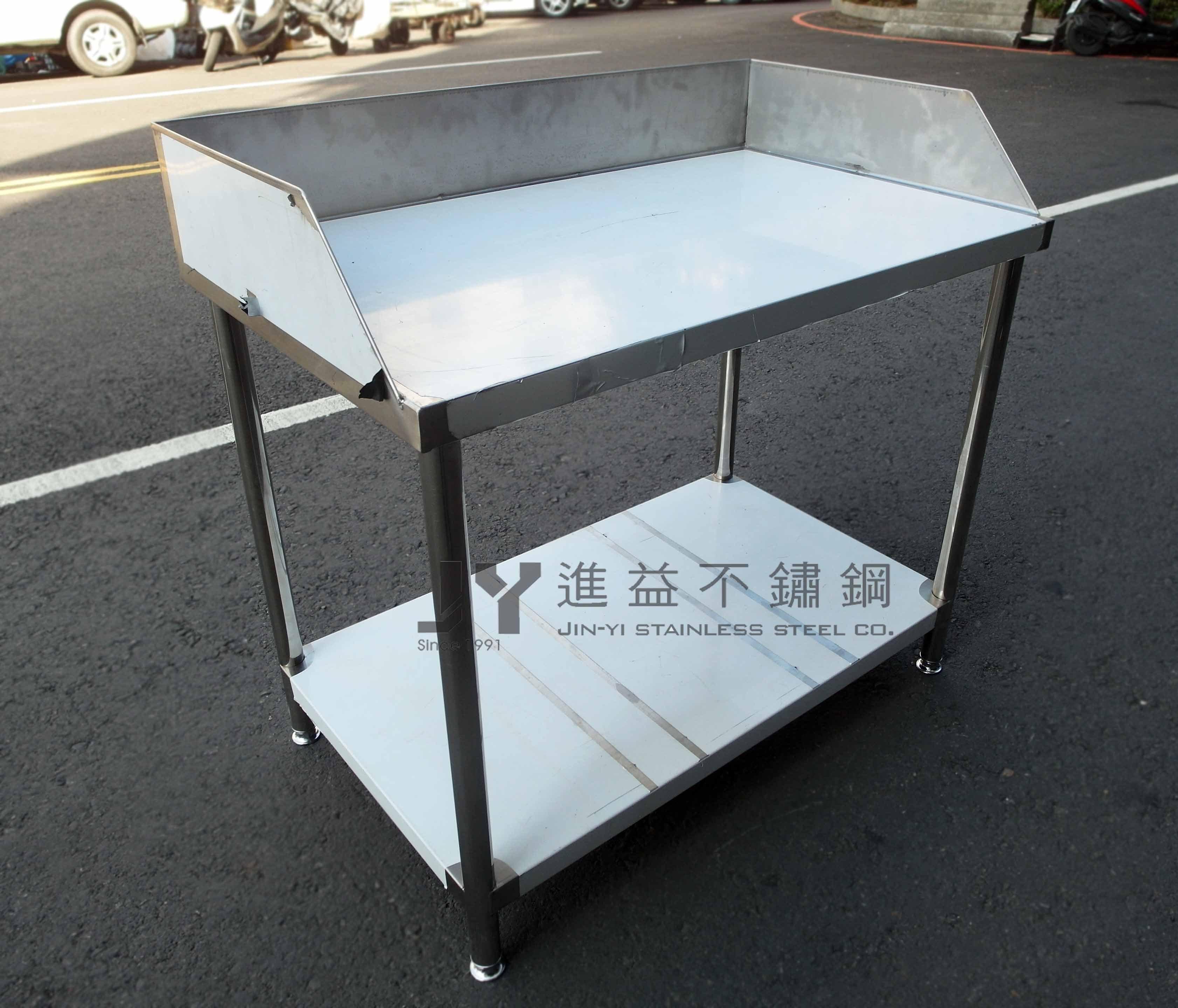 【進益不鏽鋼】工作桌 桌面擋板 工作桌 無塵室桌 醫院桌 不鏽鋼訂製 客製化不鏽鋼桌 訂製工作台