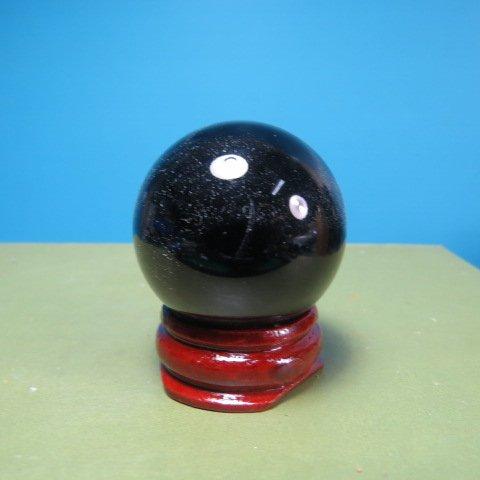 【競標網】天然漂亮火山(黑色)琉璃球35mm2個(贈座)( 價 賣) 10組(賣完恢復 250元)