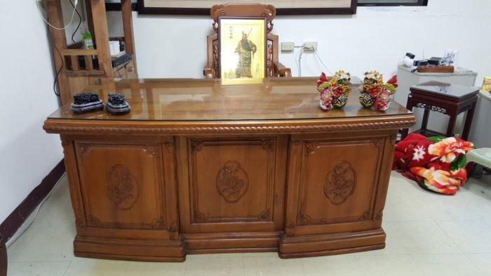 台中二手傢俱 樂居全新中古家具 TK1216FJE*高級柚木主管桌 書桌 辦公桌 董事長桌 電腦桌*實木家具買賣樟木檜木