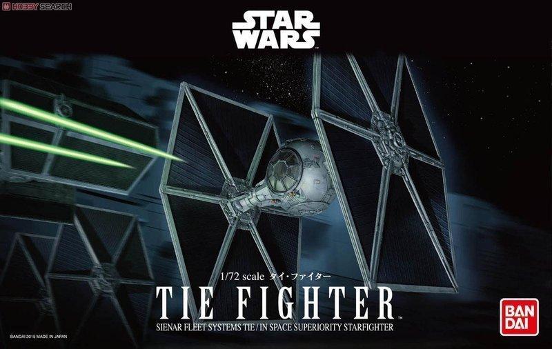 【鋼普拉】BANDAI 星際大戰 1/72 STAR WARS TIE FIGHTER 鈦戰機 原力覺醒