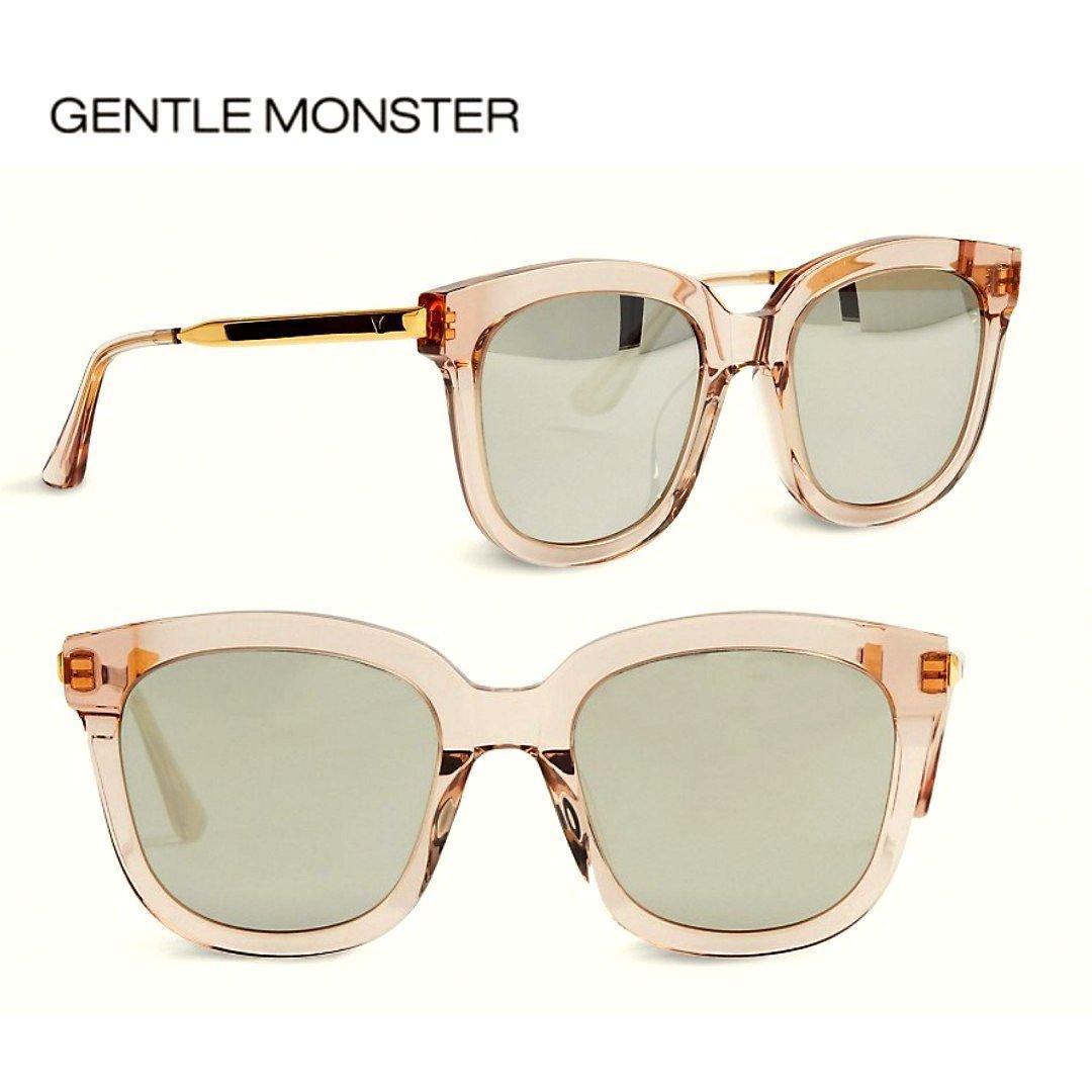 GENTLE MONSTER ►ABSENTE (透明感粉紅色框×金屬金色×銀灰色水銀鏡片) 貓眼框型 太陽眼鏡 墨鏡 中性款|100%全新正品|特價!