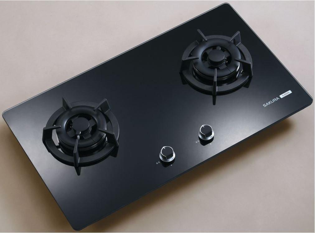 《日成》櫻花-二口.小面板.易清玻璃檯面爐 (G2522GB) 黑玻