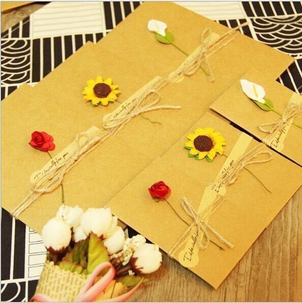 韓國 牛皮紙 生日祝福感謝卡端午小卡片父親節賀卡diy嘉義