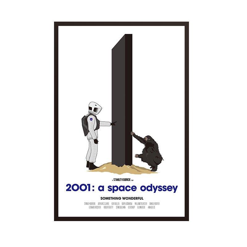 C - R - A - Z - Y - T - O - W - N 2001太空漫遊A Space Odyssey 科幻電影海報掛畫太空人裝飾畫電影版畫收藏畫