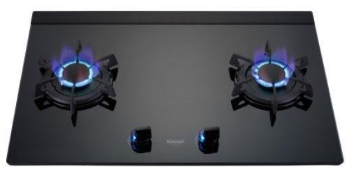 《日成》林內牌.LED旋鈕.LOTUS二口玻璃檯面式瓦斯爐 ( RB-F212G )
