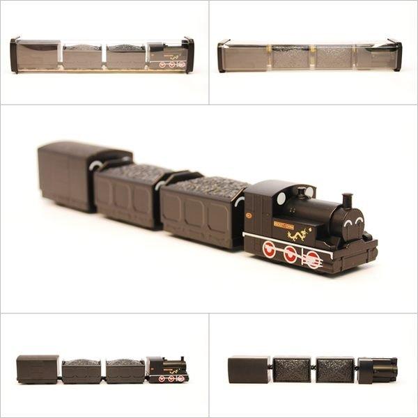 【喵喵模型坊】TOUCH RAIL 鐵支路 Q版 龍號機車煤車蓬車小列車 (QV022T1)