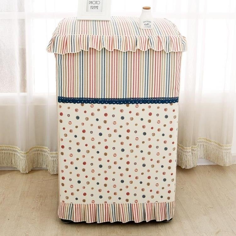 衣萊 簡約款布藝米拉全自動洗衣機防塵套三洋防曬海爾滾筒加厚洗衣機罩