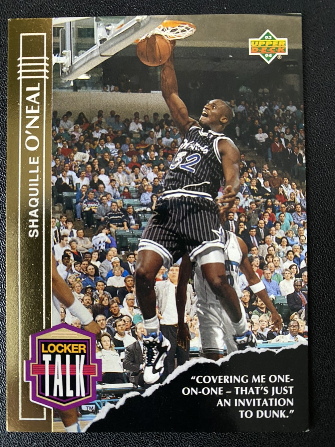 Shaquille ONeal 1993-94 Upper Deck Locker Talk #LT3