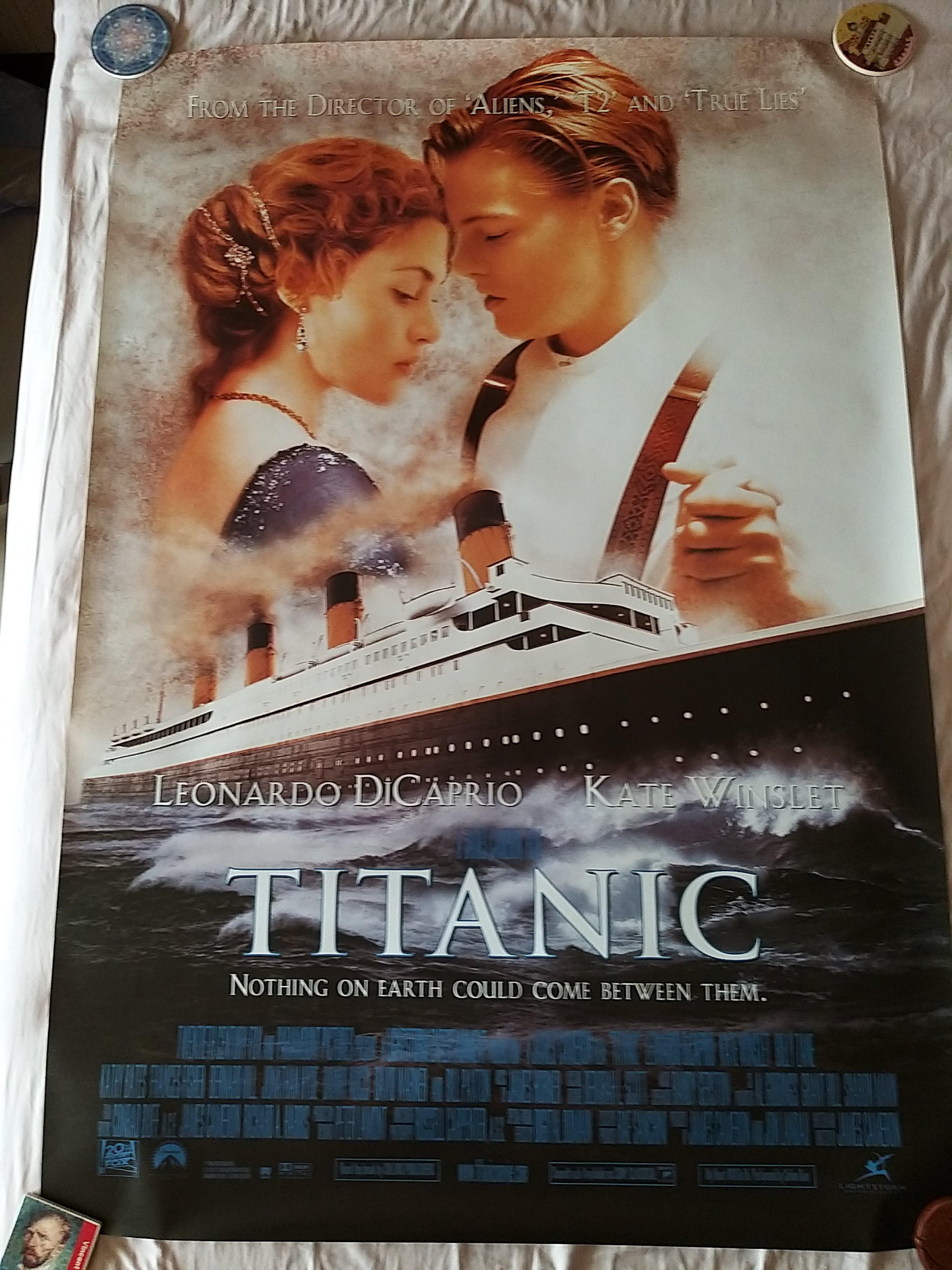鐵達尼號 TITANIC (英大版) 電影海報(單面 大尺寸) 2款一套合賣.李奧納多 凱特·溫絲蕾