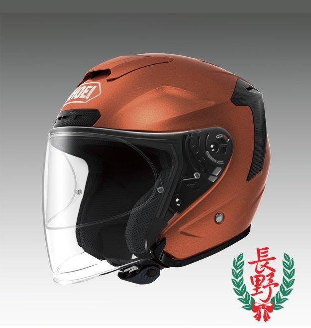 ◎長野車業◎日本 SHOEI J-FORCE IV 亮橘 JFORCE 4 3/4 安全帽 透氣 通風 輕量