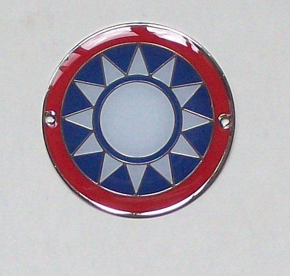 可欣 :3公分紅圈青天白日帽徽 徽章(3公分銅質烤漆POLY)
