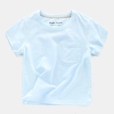 [C.M. 館]130 男女童適穿圓領簡單有型純色百搭棉質短袖T恤