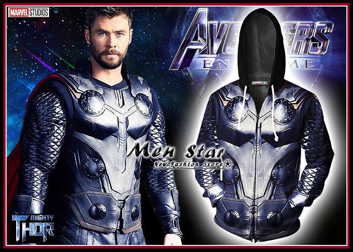 【Men Star】免 復仇者聯盟4 終局之戰 雷神索爾 彈力 外套 連帽外套 無限手套 胖索爾 媲美 stage