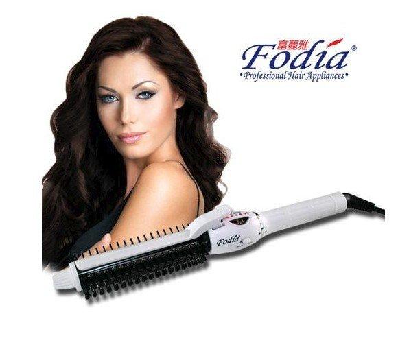 第三代Fodia 富麗雅 360度 電棒梳 雪花白 32mm