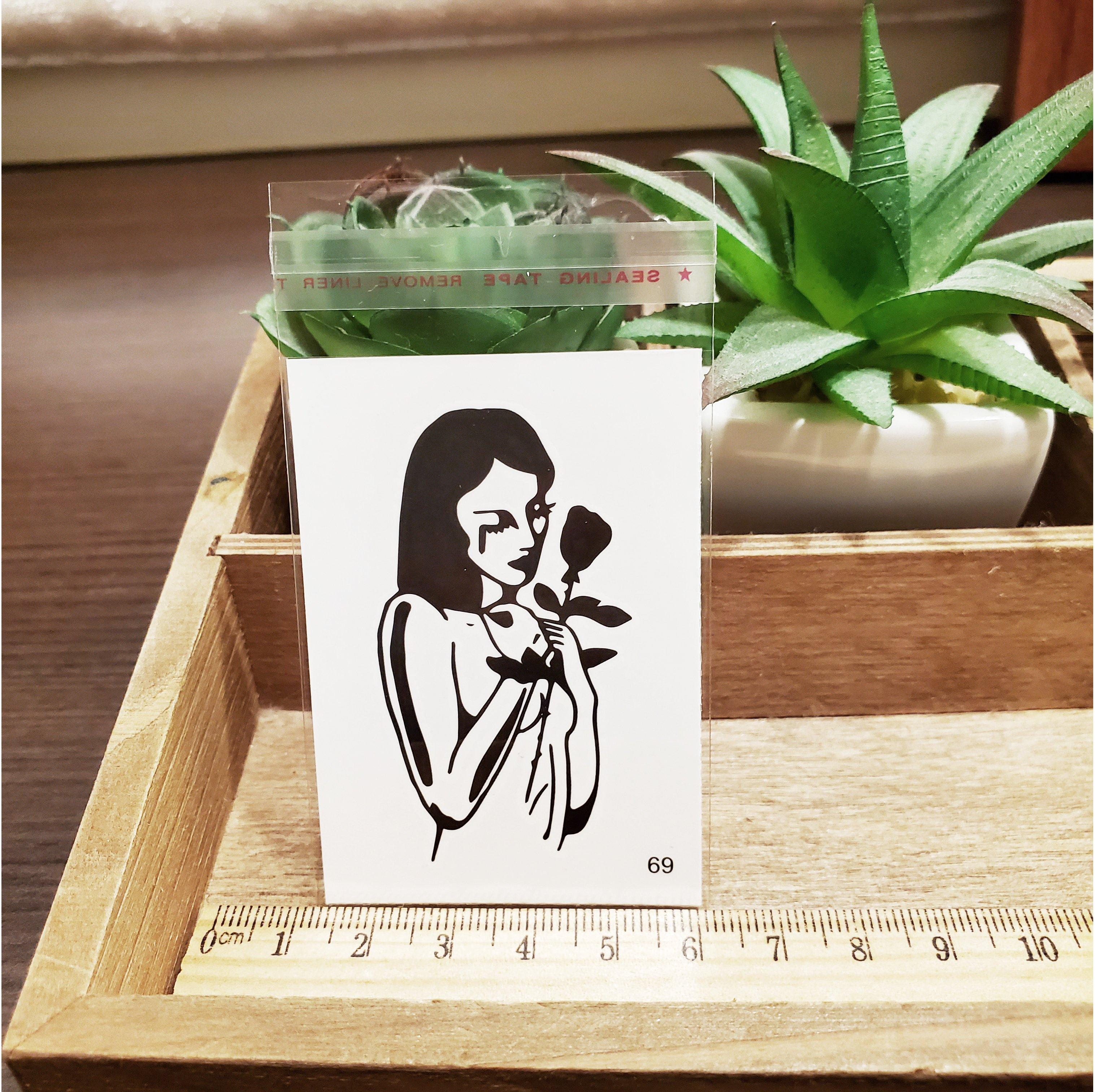 【萌古屋】百態人生69單圖 - 男女防水紋身貼紙刺青貼紙 K43
