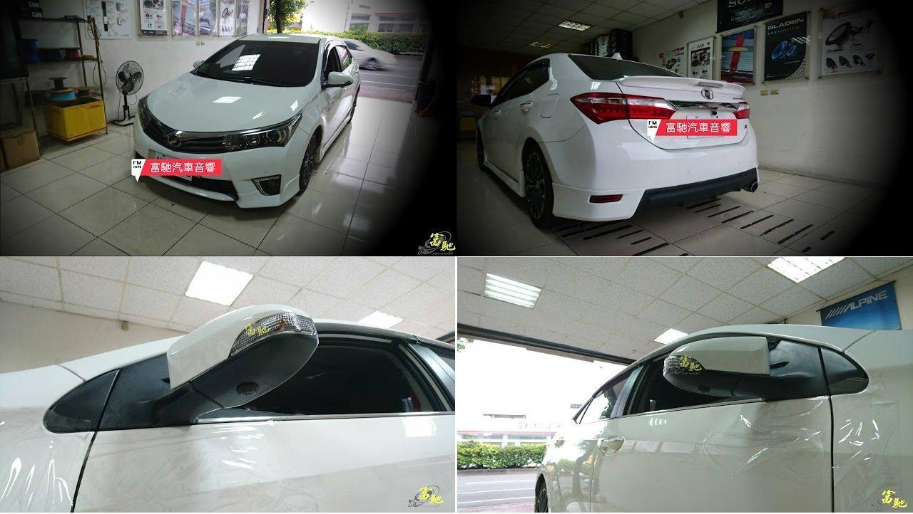 富馳汽車音響TOYOTA ALTIS11代改裝 360度四鏡頭行車記錄環景輔助系統~