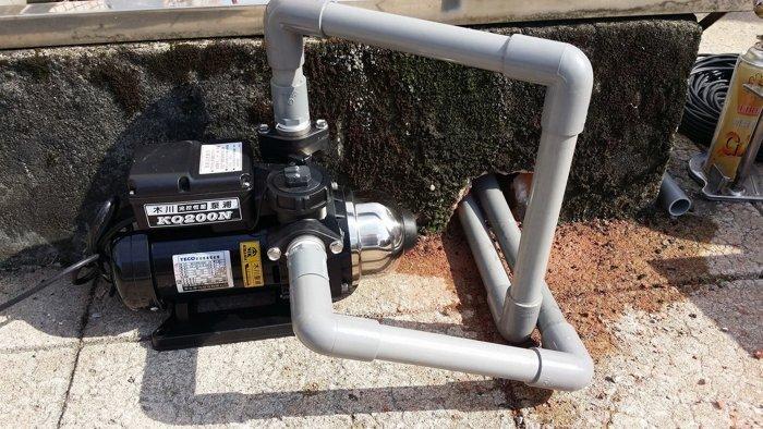 【全新品 送基本安裝】東元馬達 木川 KQ200N 1/4HP 塑鋼電子穩壓加壓馬達 電子式穩壓機 靜音加壓機 抽水機