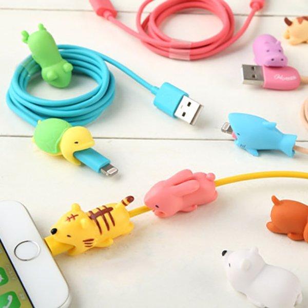 Hamee 咬咬小動物 iPhone傳輸線 充電線 防斷保護套 Cable Bite 第 該該貝比  ☆