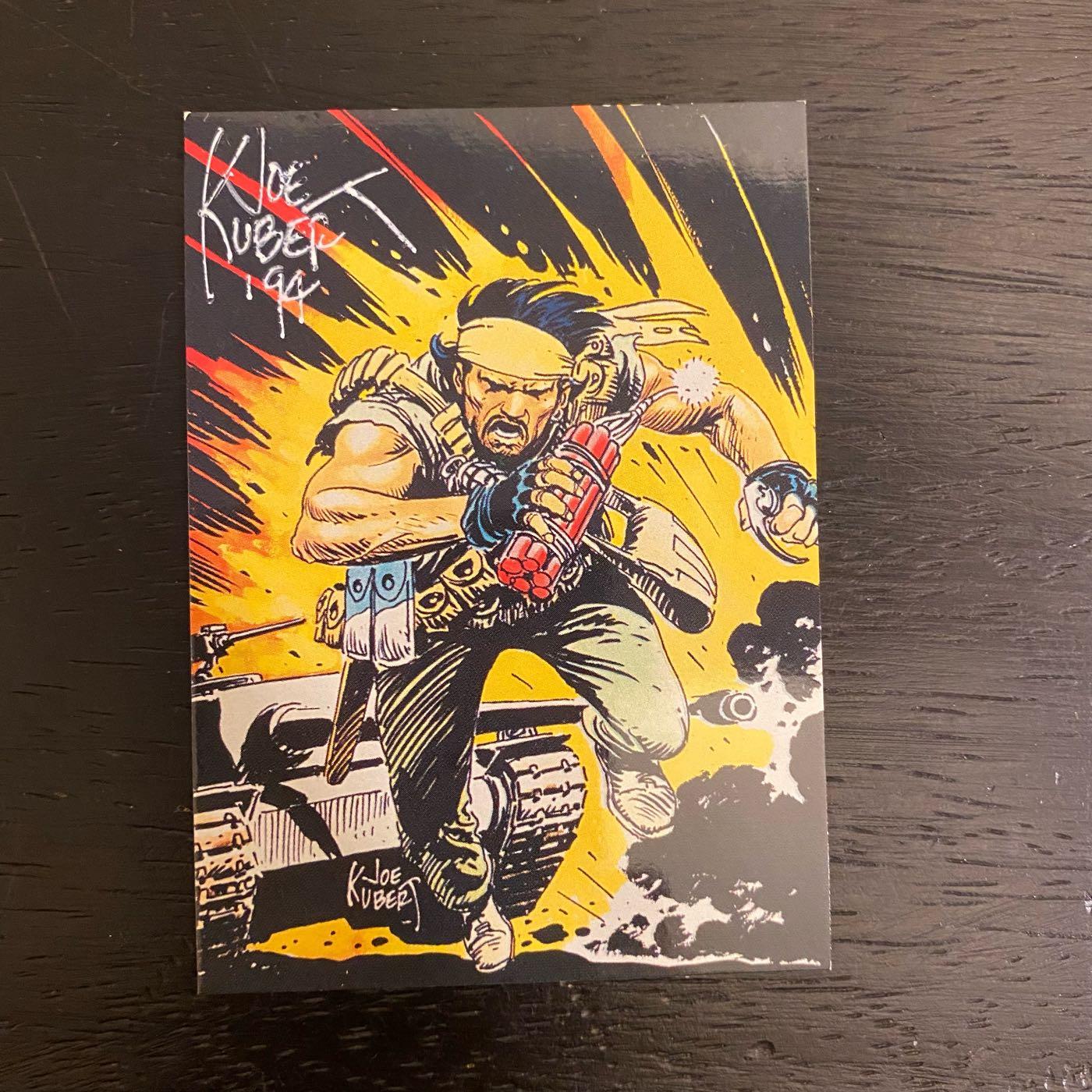 1994 Joe Kubert 美國漫畫家 親筆簽名 收藏卡 卡片