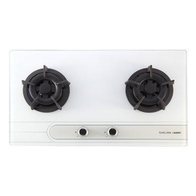 明美廚櫃 G2522G 櫻花牌二口小面板易清檯面爐