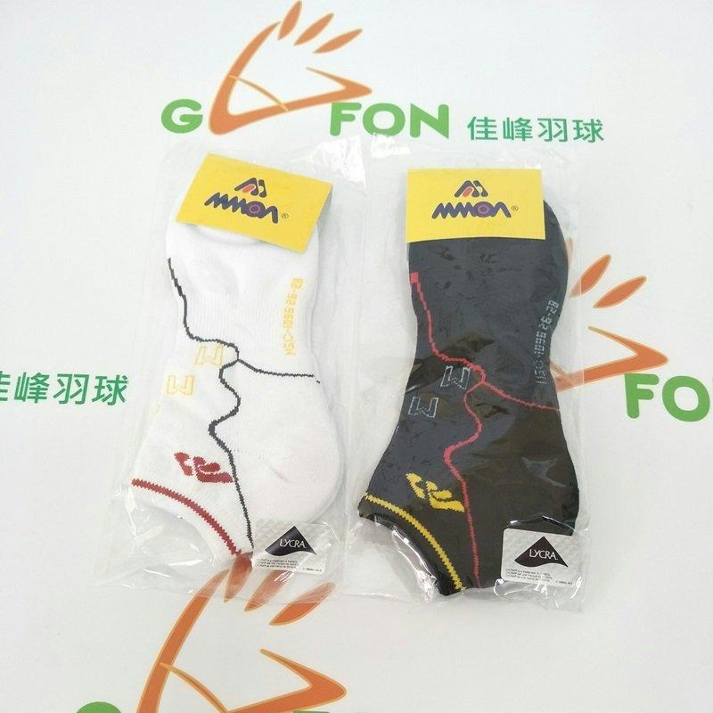 MMOA 男款羽球襪 短襪【舒適x彈性 各種 】黑白二色可選 保護腳踝  8雙免運 買12雙送1雙~