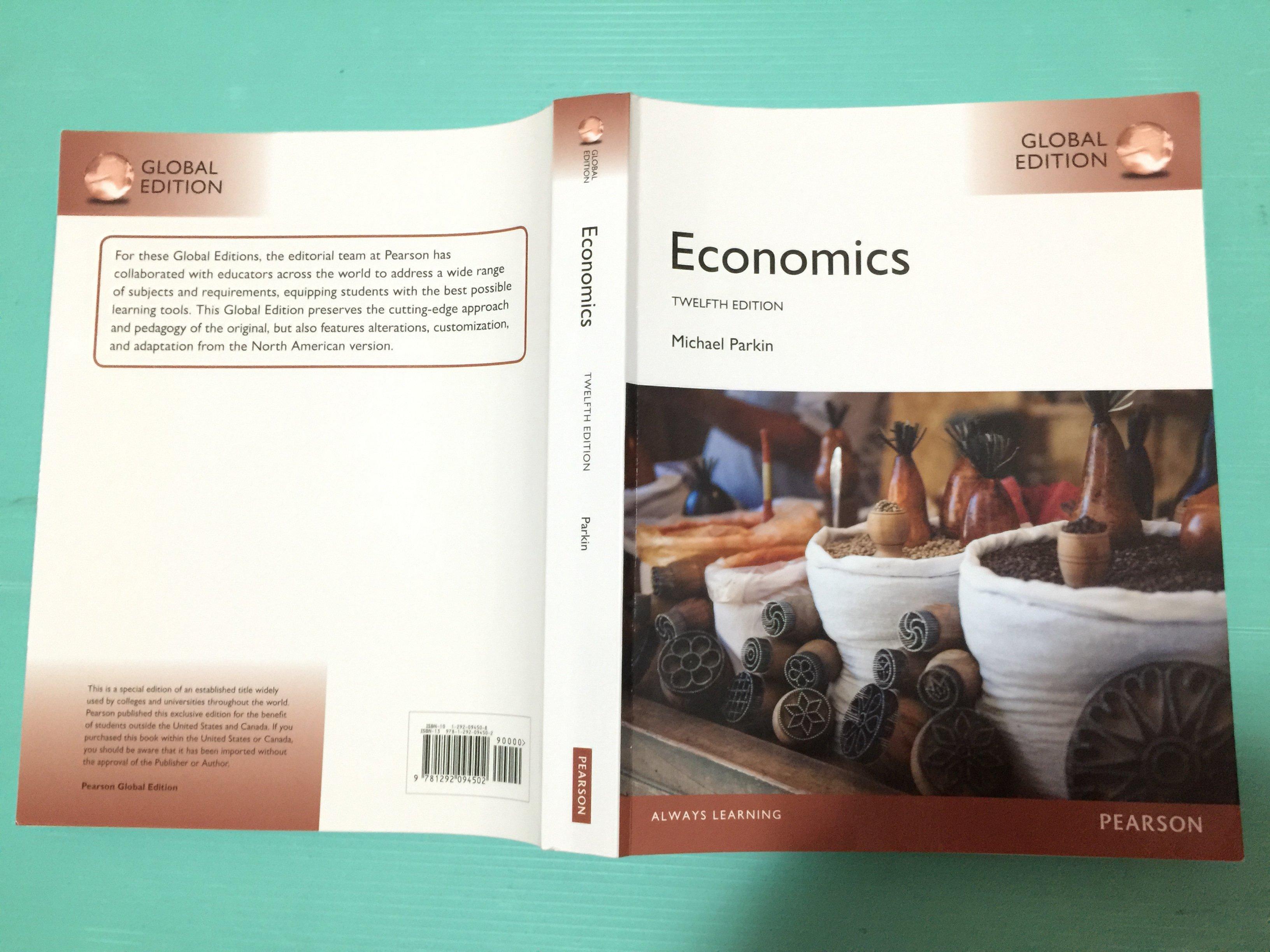 【原文】Economics 12 E Parkin 9781292094502 經濟學